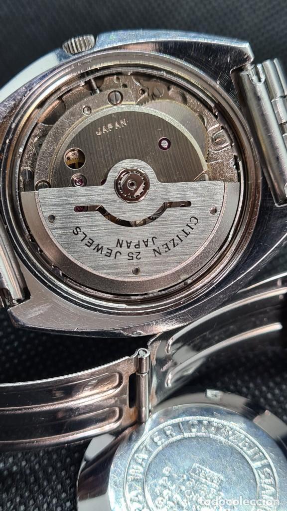 Relojes - Citizen: Reloj caballero (Vintage) CITIZEN automatico 25 rubis, esfera azul, calendario las tres, 67-4273. - Foto 11 - 247674375