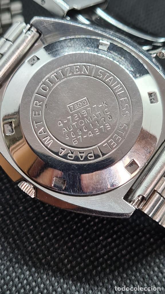 Relojes - Citizen: Reloj caballero (Vintage) CITIZEN automatico 25 rubis, esfera azul, calendario las tres, 67-4273. - Foto 13 - 247674375