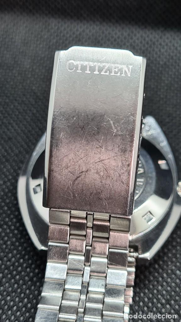 Relojes - Citizen: Reloj caballero (Vintage) CITIZEN automatico 25 rubis, esfera azul, calendario las tres, 67-4273. - Foto 15 - 247674375