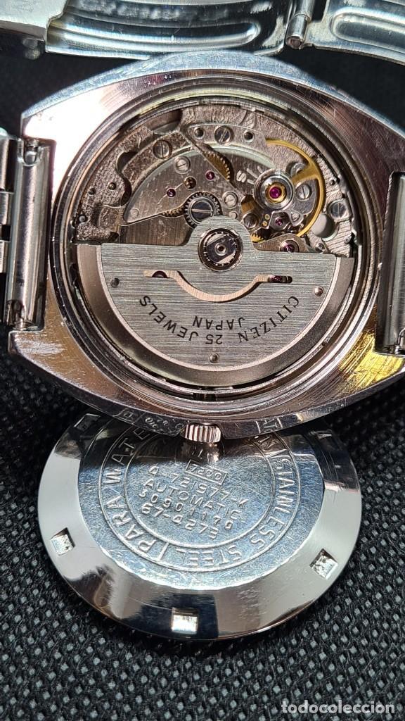 Relojes - Citizen: Reloj caballero (Vintage) CITIZEN automatico 25 rubis, esfera azul, calendario las tres, 67-4273. - Foto 17 - 247674375