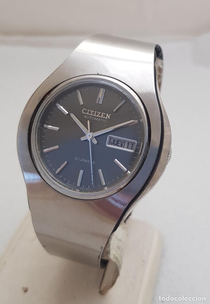 Relojes - Citizen: RARO CITIZEN AUTOMATICO SPACE 51 - 0637 ACERO FUNCIONANDO 40MM CON BRAZALETE - Foto 9 - 253029050