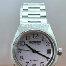 Relojes - Citizen: RELOJ CABALLERO (VINTAGE) CITIZEN ACERO AUTOMÁTICO CON CALENDARIO A LAS TRES HORAS, CORREA DE ACERO.. Lote 253786730