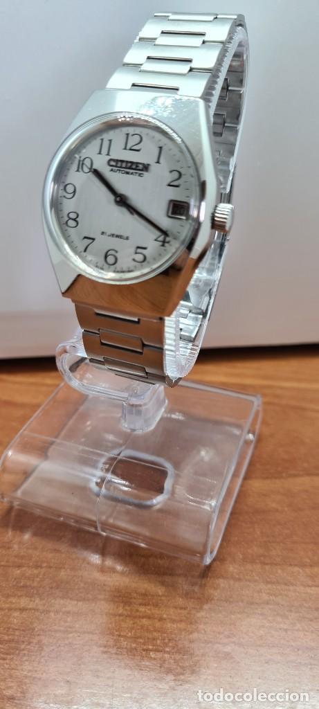 Relojes - Citizen: Reloj caballero (Vintage) CITIZEN acero automático con calendario a las tres horas, correa de acero. - Foto 2 - 253786730