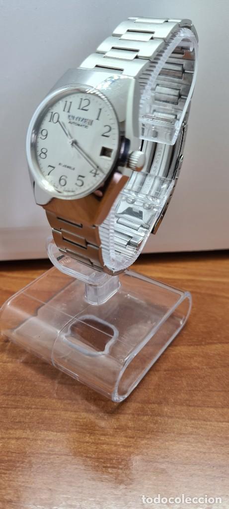 Relojes - Citizen: Reloj caballero (Vintage) CITIZEN acero automático con calendario a las tres horas, correa de acero. - Foto 4 - 253786730