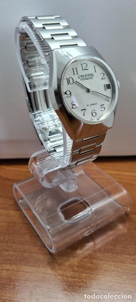 Relojes - Citizen: Reloj caballero (Vintage) CITIZEN acero automático con calendario a las tres horas, correa de acero. - Foto 5 - 253786730