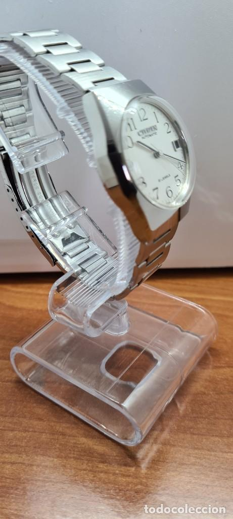Relojes - Citizen: Reloj caballero (Vintage) CITIZEN acero automático con calendario a las tres horas, correa de acero. - Foto 7 - 253786730
