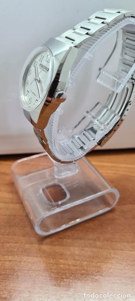 Relojes - Citizen: Reloj caballero (Vintage) CITIZEN acero automático con calendario a las tres horas, correa de acero. - Foto 8 - 253786730
