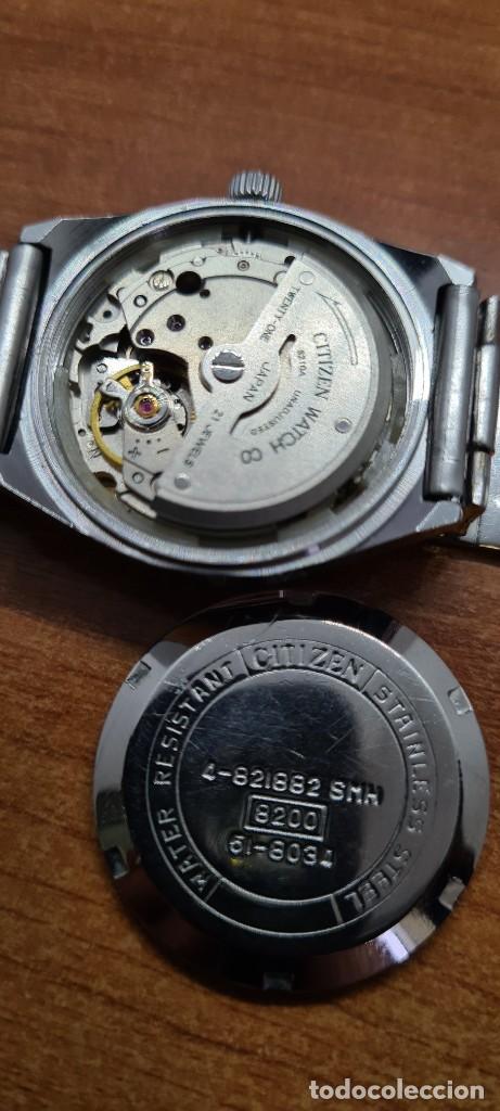 Relojes - Citizen: Reloj caballero (Vintage) CITIZEN acero automático con calendario a las tres horas, correa de acero. - Foto 10 - 253786730