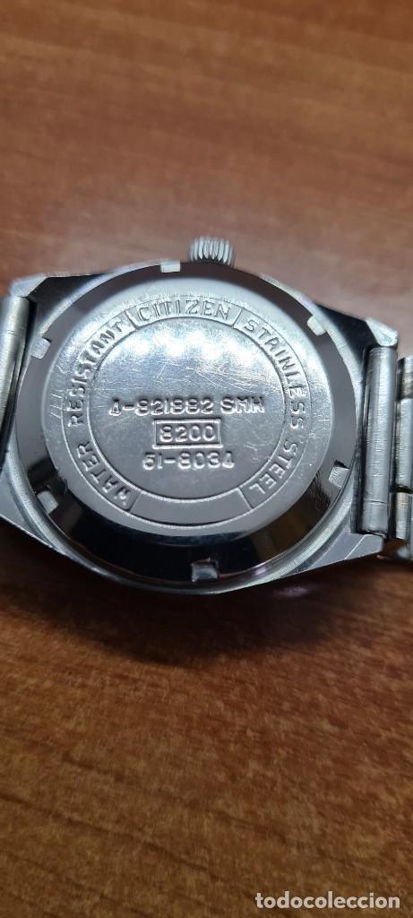 Relojes - Citizen: Reloj caballero (Vintage) CITIZEN acero automático con calendario a las tres horas, correa de acero. - Foto 14 - 253786730