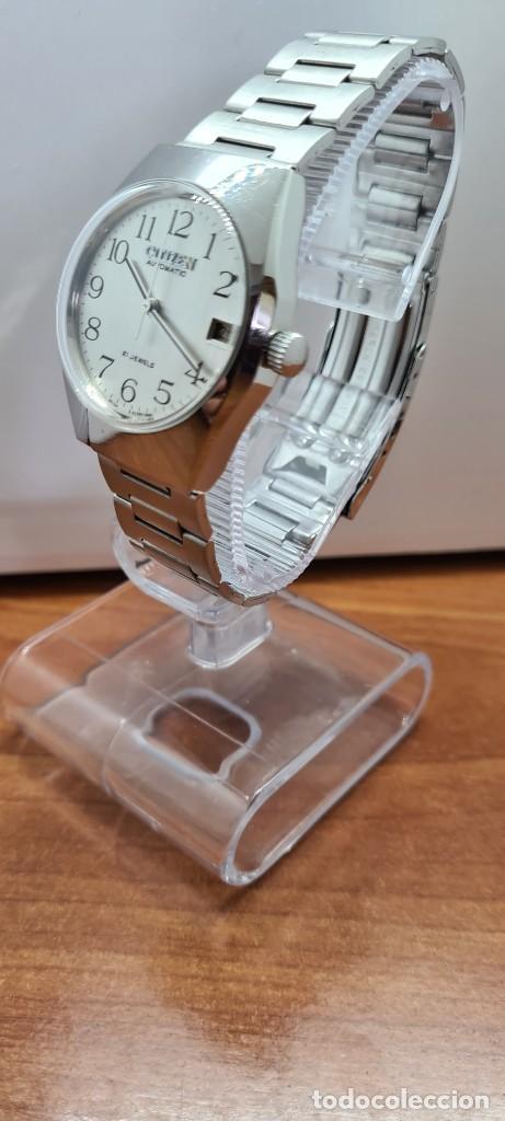 Relojes - Citizen: Reloj caballero (Vintage) CITIZEN acero automático con calendario a las tres horas, correa de acero. - Foto 17 - 253786730