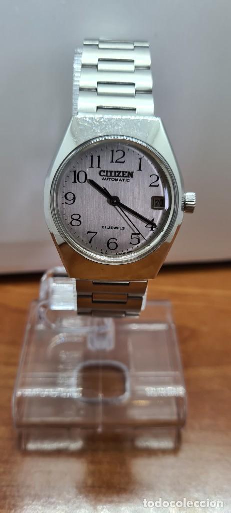Relojes - Citizen: Reloj caballero (Vintage) CITIZEN acero automático con calendario a las tres horas, correa de acero. - Foto 18 - 253786730
