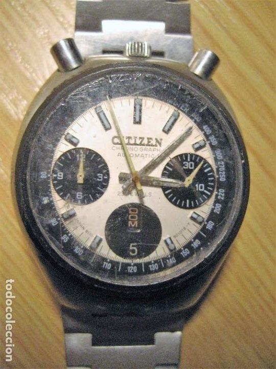 RELOJ PULSERA CITIZEN CHRONOGRAPH AUTOMATIC 4-901053 Y INSCRIPCION PERSONAL AÑO 1976 (Relojes - Relojes Actuales - Citizen)