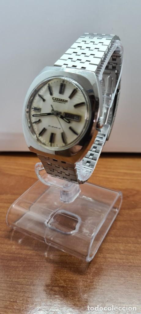 Relojes - Citizen: Reloj caballero (Vintage) CITIZEN automático acero con doble calendario a las tres, correa de acero - Foto 2 - 255505015