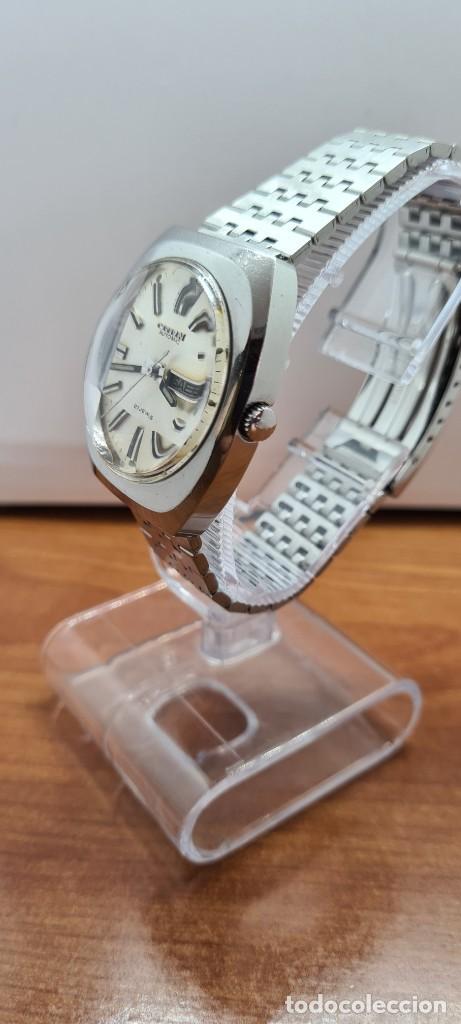 Relojes - Citizen: Reloj caballero (Vintage) CITIZEN automático acero con doble calendario a las tres, correa de acero - Foto 6 - 255505015