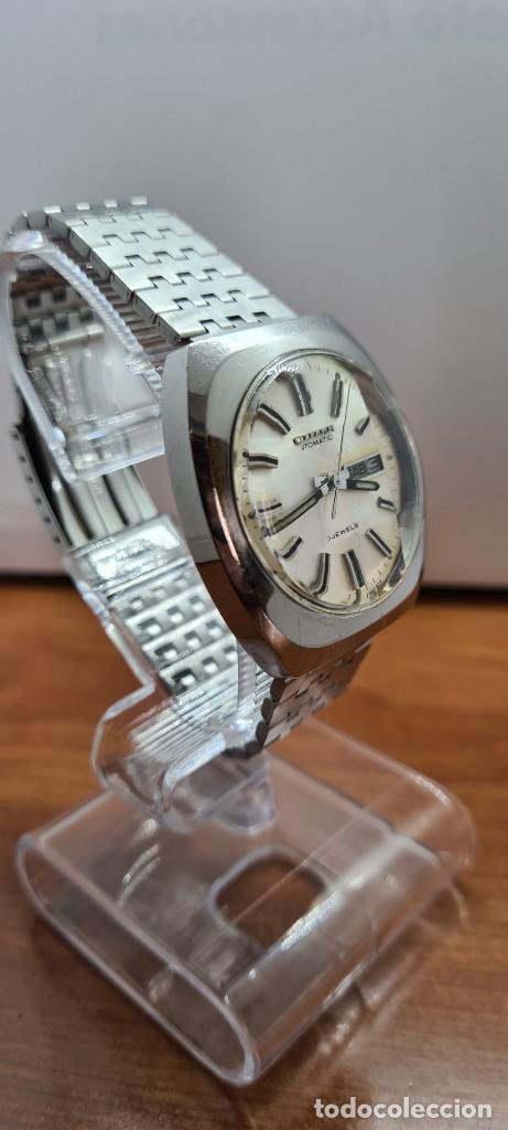 Relojes - Citizen: Reloj caballero (Vintage) CITIZEN automático acero con doble calendario a las tres, correa de acero - Foto 7 - 255505015
