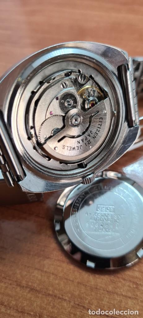 Relojes - Citizen: Reloj caballero (Vintage) CITIZEN automático acero con doble calendario a las tres, correa de acero - Foto 8 - 255505015