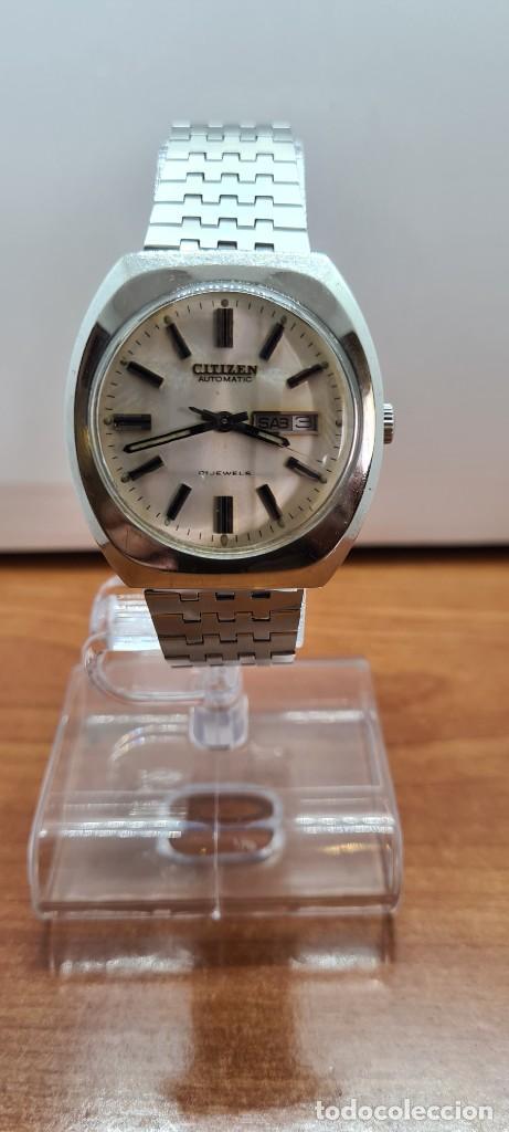 Relojes - Citizen: Reloj caballero (Vintage) CITIZEN automático acero con doble calendario a las tres, correa de acero - Foto 12 - 255505015