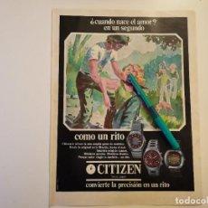 Relojes - Citizen: RELOJ CITIZEN ANUNCIO PUBLICIDAD REVISTA 1975. Lote 255605195