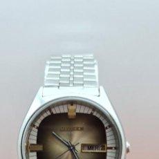 Relojes - Citizen: RELOJ CABALLERO (VINTAGE) CITIZEN AUTOMÁTICO ACERO CON DOBLE CALENDARIO A LAS TRES, CORREA DE ACERO. Lote 258020015