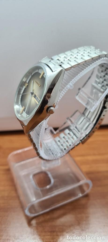 Relojes - Citizen: Reloj caballero (Vintage) CITIZEN automático acero con doble calendario a las tres, correa de acero - Foto 6 - 258020015