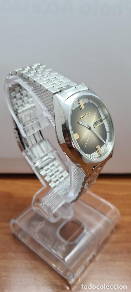 Relojes - Citizen: Reloj caballero (Vintage) CITIZEN automático acero con doble calendario a las tres, correa de acero - Foto 7 - 258020015