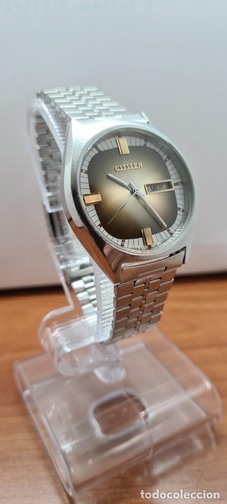 Relojes - Citizen: Reloj caballero (Vintage) CITIZEN automático acero con doble calendario a las tres, correa de acero - Foto 8 - 258020015