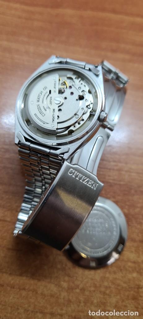 Relojes - Citizen: Reloj caballero (Vintage) CITIZEN automático acero con doble calendario a las tres, correa de acero - Foto 9 - 258020015