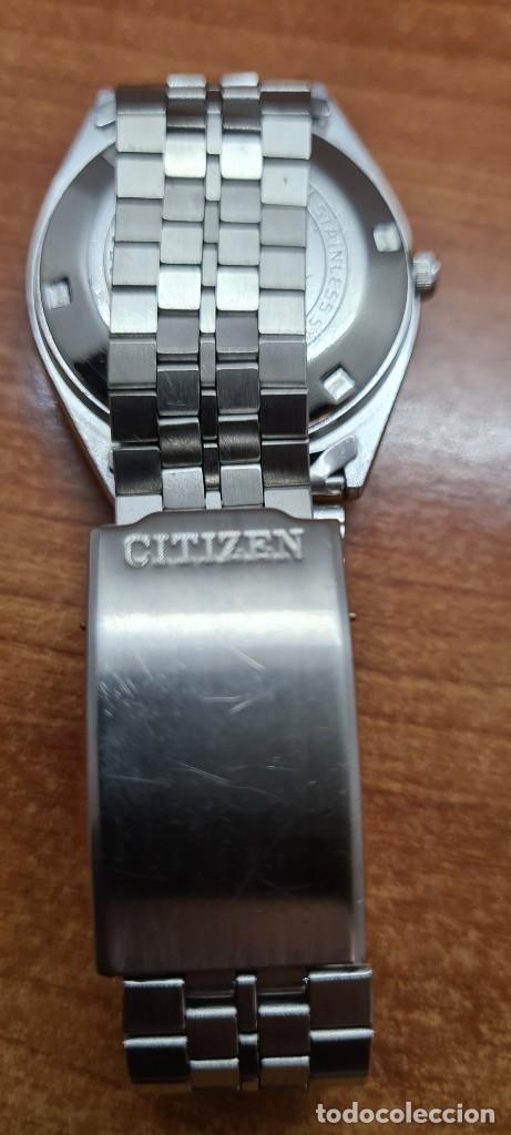 Relojes - Citizen: Reloj caballero (Vintage) CITIZEN automático acero con doble calendario a las tres, correa de acero - Foto 13 - 258020015