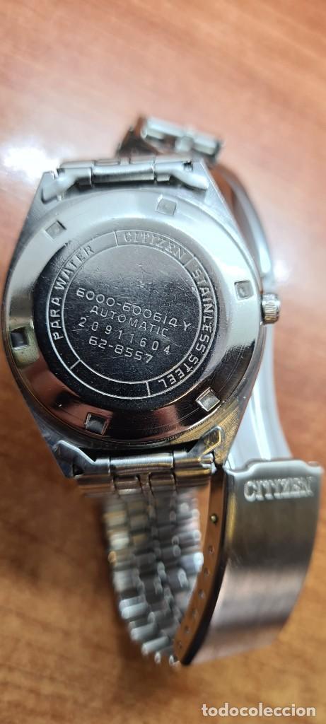 Relojes - Citizen: Reloj caballero (Vintage) CITIZEN automático acero con doble calendario a las tres, correa de acero - Foto 15 - 258020015