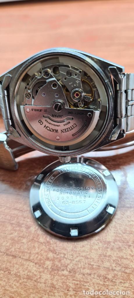 Relojes - Citizen: Reloj caballero (Vintage) CITIZEN automático acero con doble calendario a las tres, correa de acero - Foto 17 - 258020015
