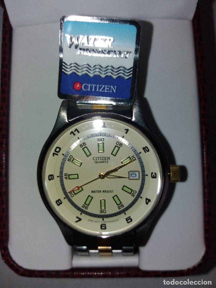 Relojes - Citizen: SOBERBIO RELOJ CITIZEN QUARTZ WATER RESISTANT NUEVO Y EN PLENO FUNCIONAMIENTO - Foto 23 - 262950720