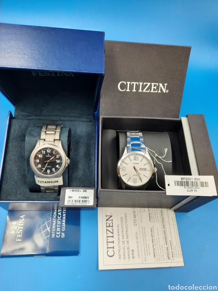 PAREJA RELOJES CITIZEN BF2001 55A Y FESTINA TITANIUM F16458 (Relojes - Relojes Actuales - Citizen)