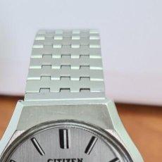 Relojes - Citizen: RELOJ CABALLERO (VINTAGE) CITIZEN AUTOMÁTICO ACERO CON DOBLE CALENDARIO A LAS TRES, CORREA DE ACERO. Lote 279441048