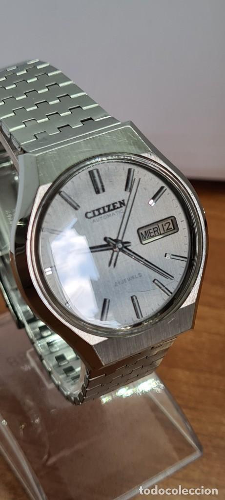 Relojes - Citizen: Reloj caballero (Vintage) CITIZEN automático acero con doble calendario a las tres, correa de acero - Foto 5 - 279441048