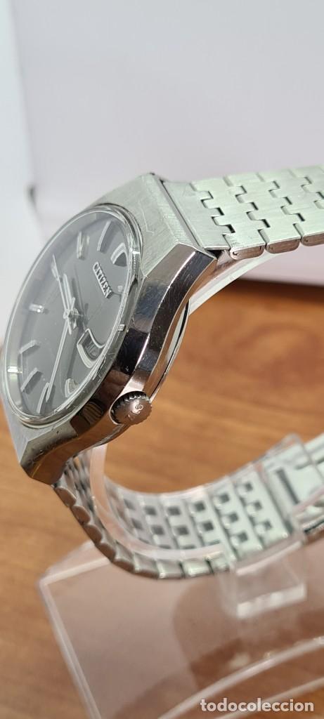 Relojes - Citizen: Reloj caballero (Vintage) CITIZEN automático acero con doble calendario a las tres, correa de acero - Foto 6 - 279441048