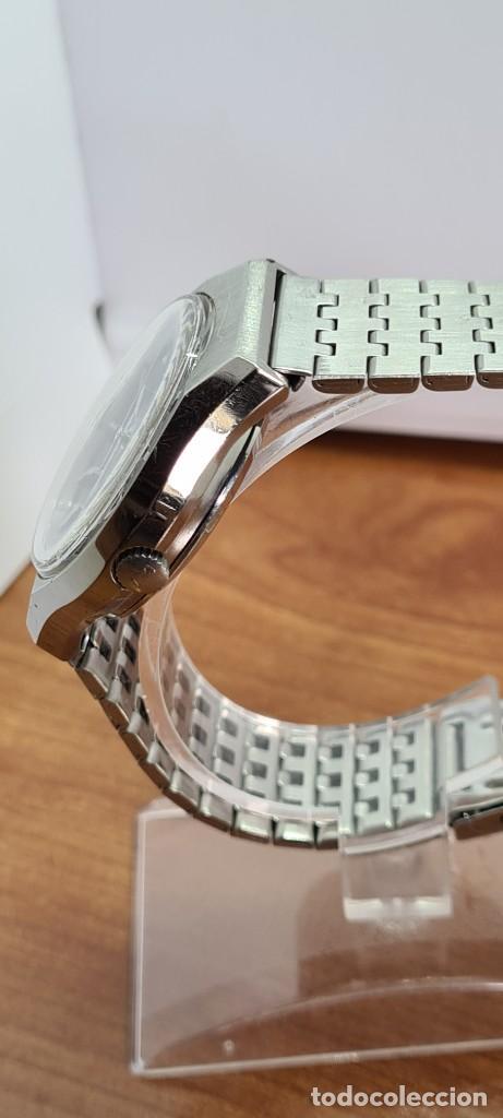 Relojes - Citizen: Reloj caballero (Vintage) CITIZEN automático acero con doble calendario a las tres, correa de acero - Foto 8 - 279441048