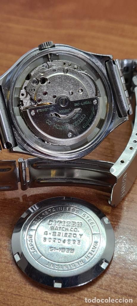 Relojes - Citizen: Reloj caballero (Vintage) CITIZEN automático acero con doble calendario a las tres, correa de acero - Foto 9 - 279441048