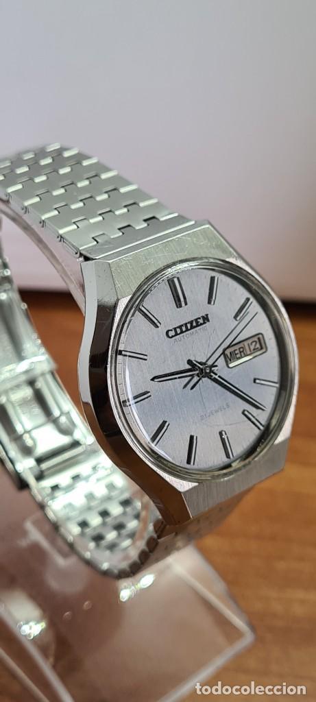Relojes - Citizen: Reloj caballero (Vintage) CITIZEN automático acero con doble calendario a las tres, correa de acero - Foto 10 - 279441048