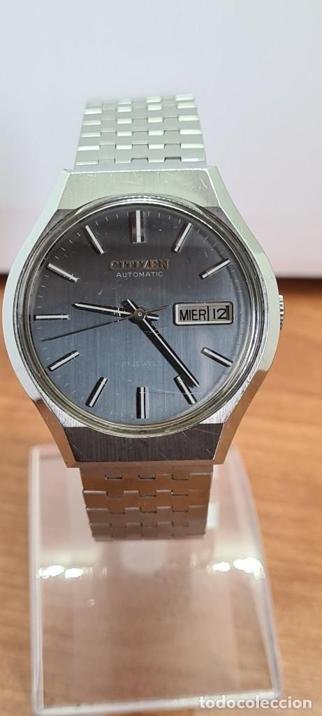 Relojes - Citizen: Reloj caballero (Vintage) CITIZEN automático acero con doble calendario a las tres, correa de acero - Foto 12 - 279441048