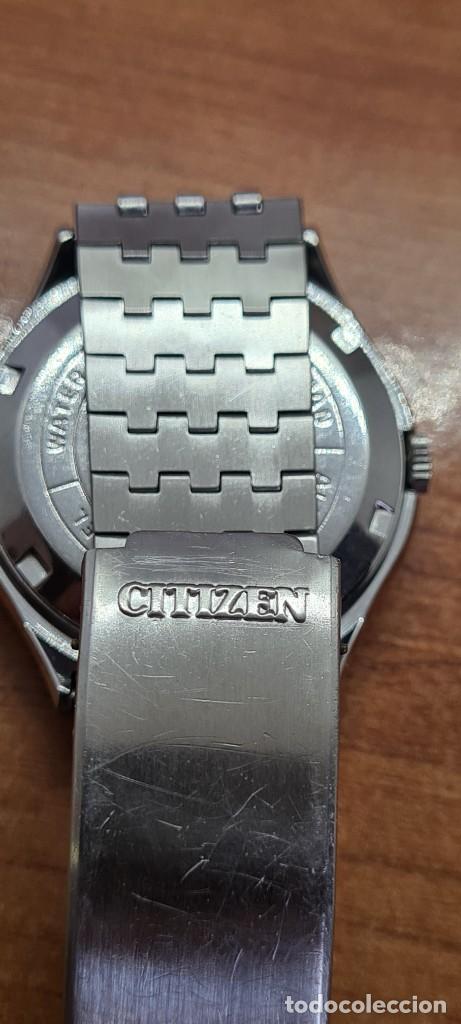 Relojes - Citizen: Reloj caballero (Vintage) CITIZEN automático acero con doble calendario a las tres, correa de acero - Foto 13 - 279441048