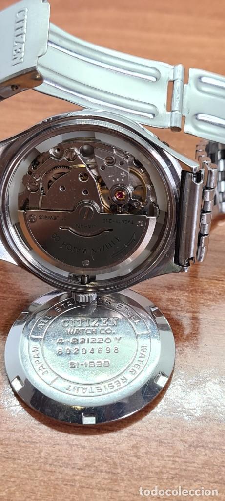 Relojes - Citizen: Reloj caballero (Vintage) CITIZEN automático acero con doble calendario a las tres, correa de acero - Foto 14 - 279441048
