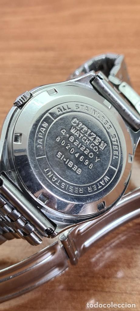 Relojes - Citizen: Reloj caballero (Vintage) CITIZEN automático acero con doble calendario a las tres, correa de acero - Foto 15 - 279441048