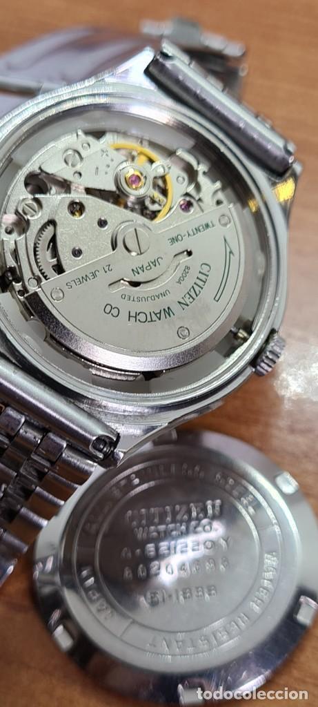 Relojes - Citizen: Reloj caballero (Vintage) CITIZEN automático acero con doble calendario a las tres, correa de acero - Foto 17 - 279441048