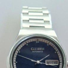 Relojes - Citizen: RELOJ CABALLERO (VINTAGE) CITIZEN AUTOMÁTICO ACERO CON DOBLE CALENDARIO A LAS TRES, CORREA DE ACERO. Lote 280209653