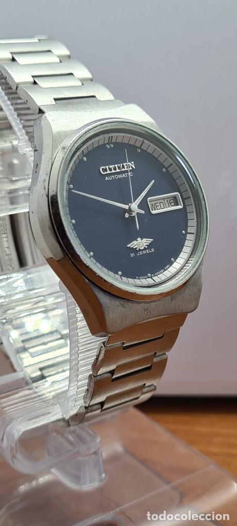 Relojes - Citizen: Reloj caballero (Vintage) CITIZEN automático acero con doble calendario a las tres, correa de acero - Foto 5 - 280209653