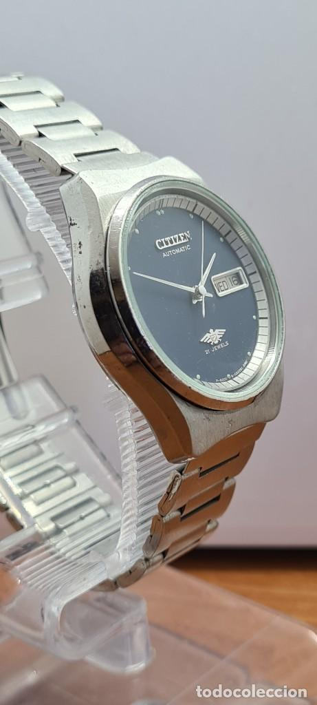 Relojes - Citizen: Reloj caballero (Vintage) CITIZEN automático acero con doble calendario a las tres, correa de acero - Foto 7 - 280209653