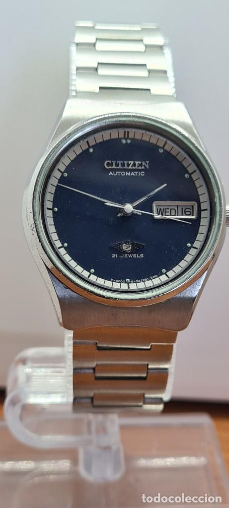 Relojes - Citizen: Reloj caballero (Vintage) CITIZEN automático acero con doble calendario a las tres, correa de acero - Foto 8 - 280209653