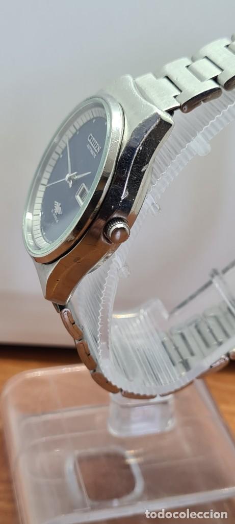 Relojes - Citizen: Reloj caballero (Vintage) CITIZEN automático acero con doble calendario a las tres, correa de acero - Foto 9 - 280209653
