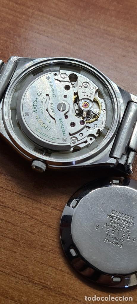 Relojes - Citizen: Reloj caballero (Vintage) CITIZEN automático acero con doble calendario a las tres, correa de acero - Foto 11 - 280209653