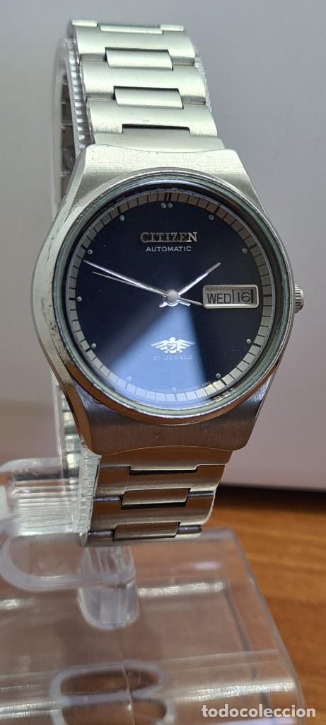Relojes - Citizen: Reloj caballero (Vintage) CITIZEN automático acero con doble calendario a las tres, correa de acero - Foto 12 - 280209653
